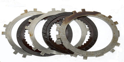 Automatic transmission clutch plates after cleanup with AMSOIL Engine and Transmission Flush