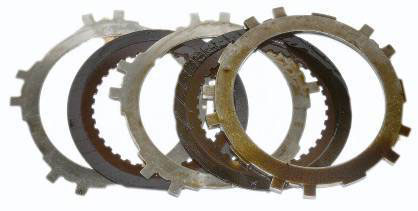 Automatic transmission clutch plates pre-cleanup