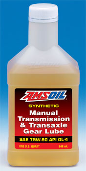 AMSOIL Synthetic Manual Transmission and Transaxle Gear Lube 75W-90 API GL-4 (MTG)